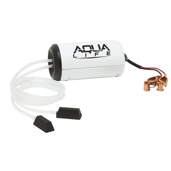 Frabill Aqua-Life Aerator Dual Output 12V DC Greater Than 25 Gallons - 71601