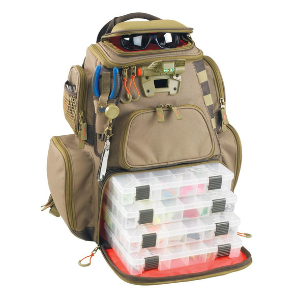 Wild River NOMAD Lighted Tackle Backpack w/4 PT3600 Trays - 46831