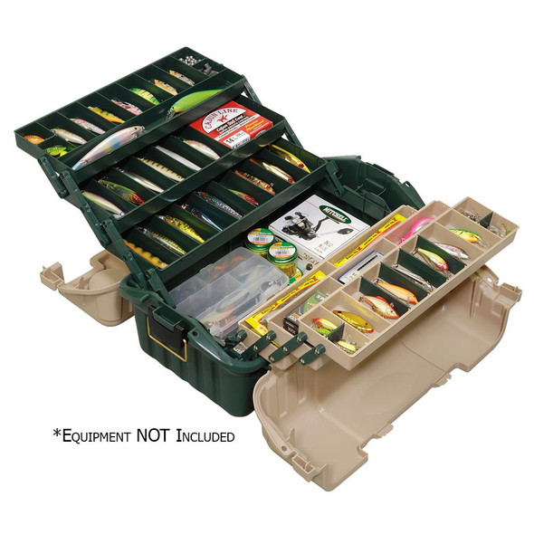 Plano Hip Roof Tackle Box w/6-Trays - Green/Sandstone - 66569