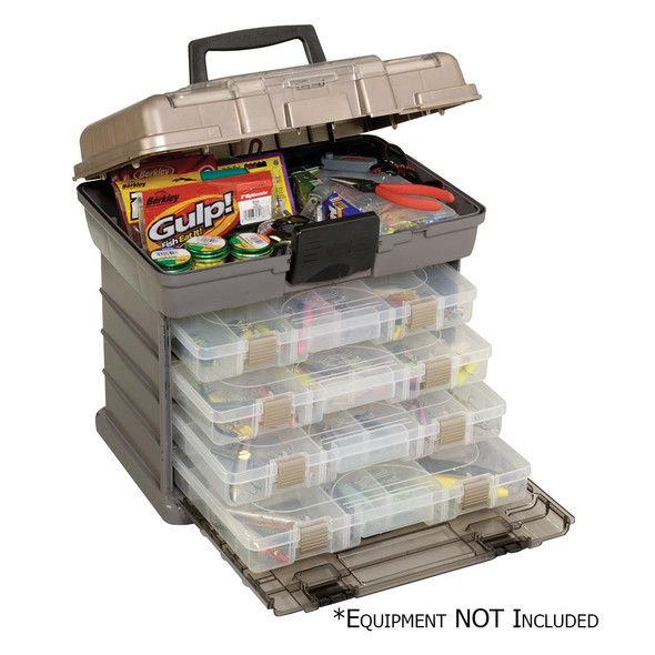 Plano Guide Series Stowaway Rack Tackle Box System - Graphite/Sandstone - 66571