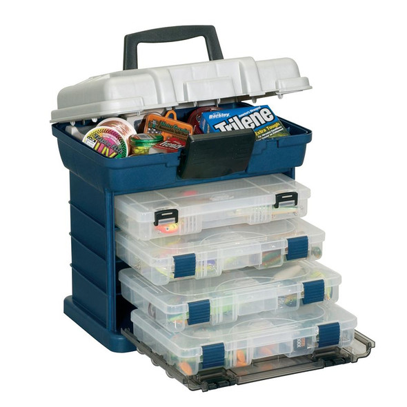 Plano 4-BY 3600 StowAway Rack System - Blue/Silver - 66742