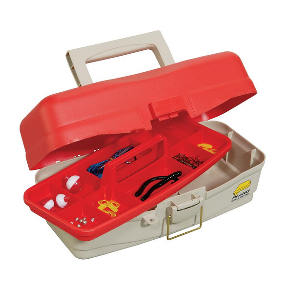 Plano Take Me Fishing Tackle Kit Box - Red/Beige