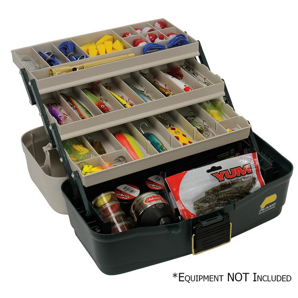 Plano Three-Tray Fixed Compartment Tackle Box