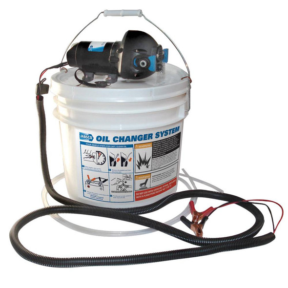Jabsco DIY Oil Change System w/Pump & 3.5 Gallon Bucket