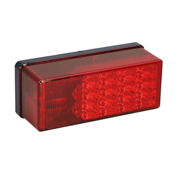 """Wesbar 3"""" x 8"""" Waterproof LED 7-Function, Right/Curbside Tail Light - 34975"""