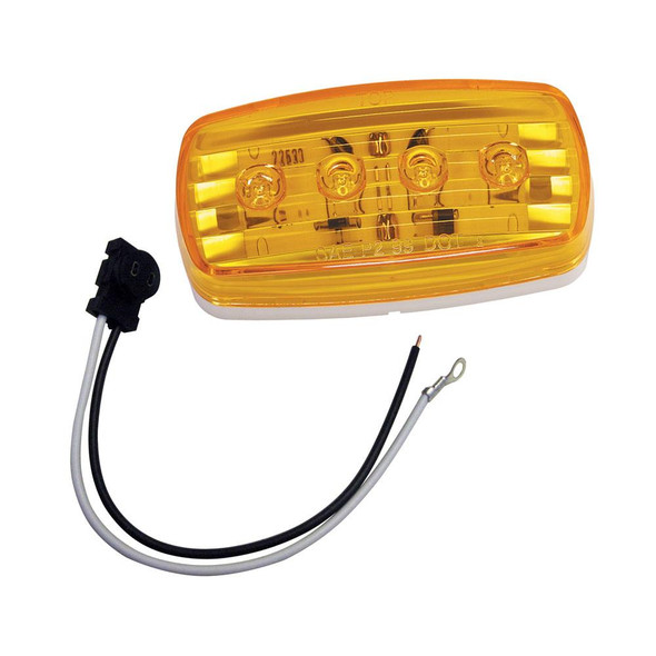 Wesbar LED Clearance/Side Marker Light - Amber #58 w/Pigtail - 36061