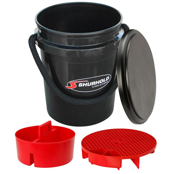 Shurhold One Bucket Kit - 5 Gallon - Black - 62091