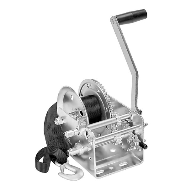 Fulton 2600lb 2-Speed Winch w/20' Strap - 64436