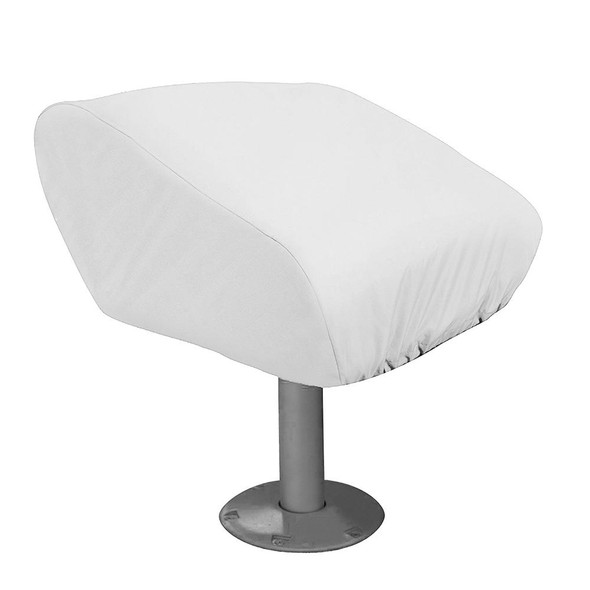 Taylor Made Folding Pedestal Boat Seat Cover - Vinyl White - 65040