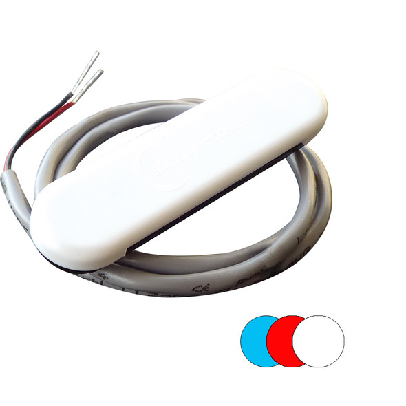 Shadow-Caster Color-Changing White, Blue & Red Dimmable - White Powder Coat Down Light