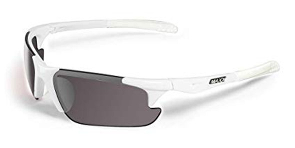 Maxx Sunglasses TR90 Maxx Storm White Polarized Smoke Lens