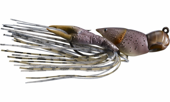 "Live Target Hollow Body Crawfish 1-1/2""  Grey Brown"