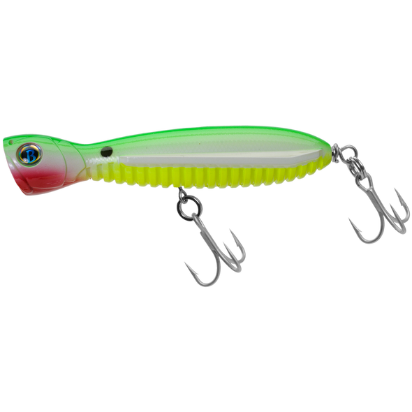 "A Band of Anglers OCEAN BORN™ FLYING POPPER 5.5"" Lime Glow Chartreuse"