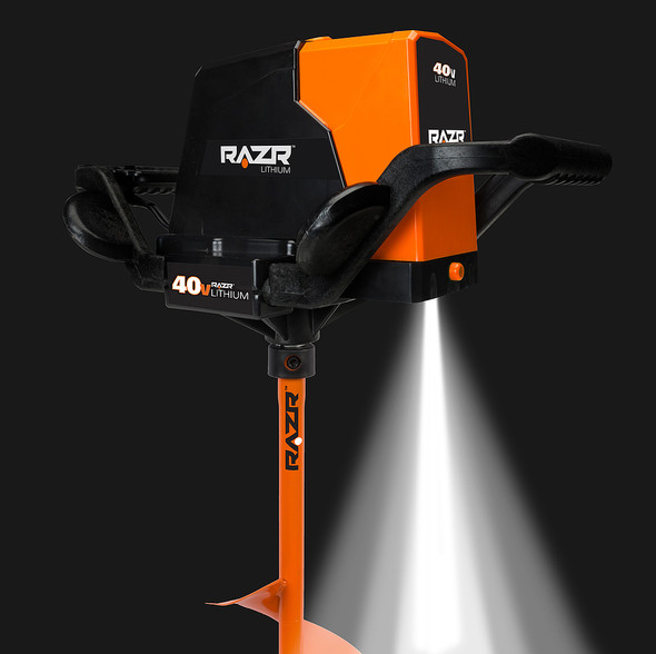 "Razr RLA8200R 40V Lithium Ice Auger 8"" Curved Blade"