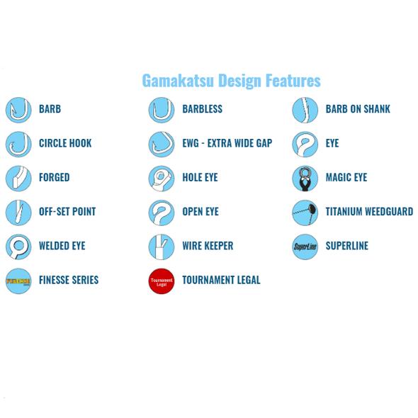 Gamakatsu Hook Design Features