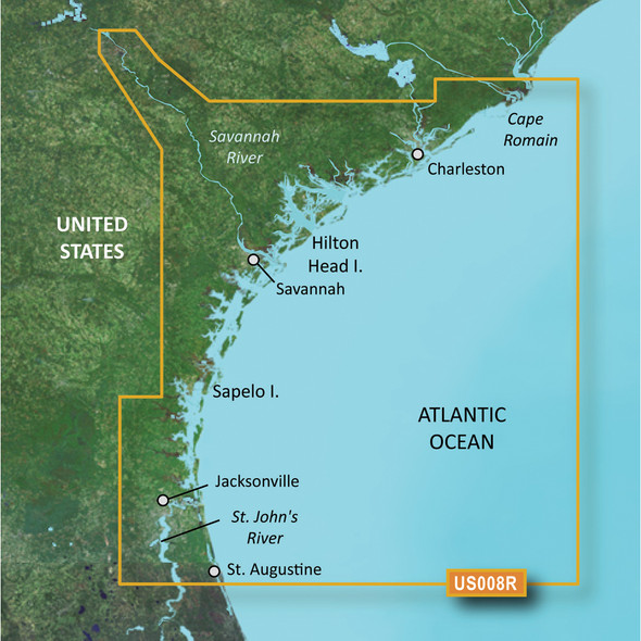 Garmin BlueChart g3 Vision HD - VUS008R - Charleston to Jacksonville - microSD/SD
