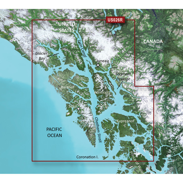 Garmin BlueChart g3 Vision HD - VUS026R - Wrangell/Juneau/Sitka - microSD/SD