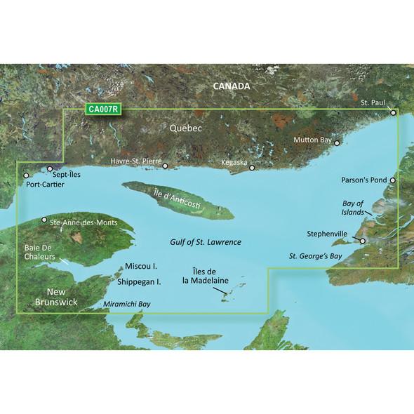Garmin BlueChart g3 Vision HD - VCA007R - Les Mechins - St. George's Bay - microSD/SD