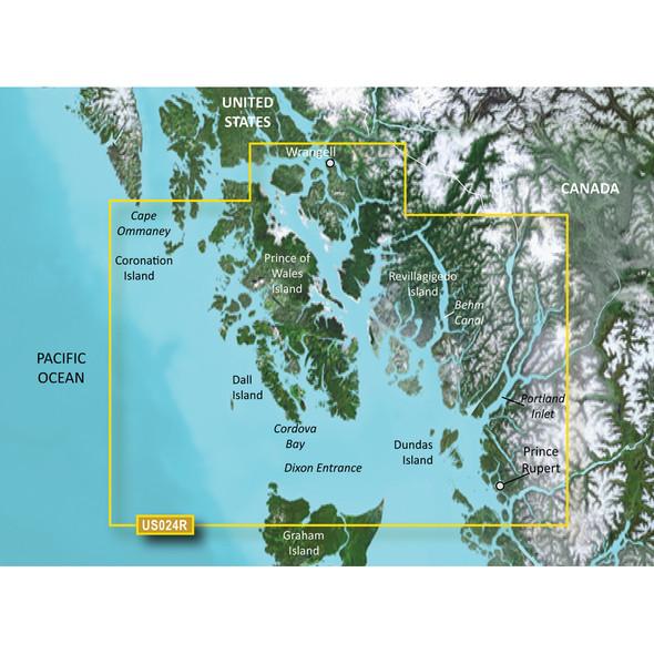 Garmin BlueChart g3 Vision HD - VUS024R - Wrangell - Dixon Entrance - microSD/SD