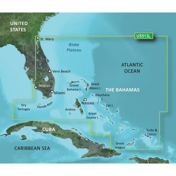 Garmin BlueChart g3 Vision HD - VUS513L - Jacksonville - Bahamas - microSD/SD