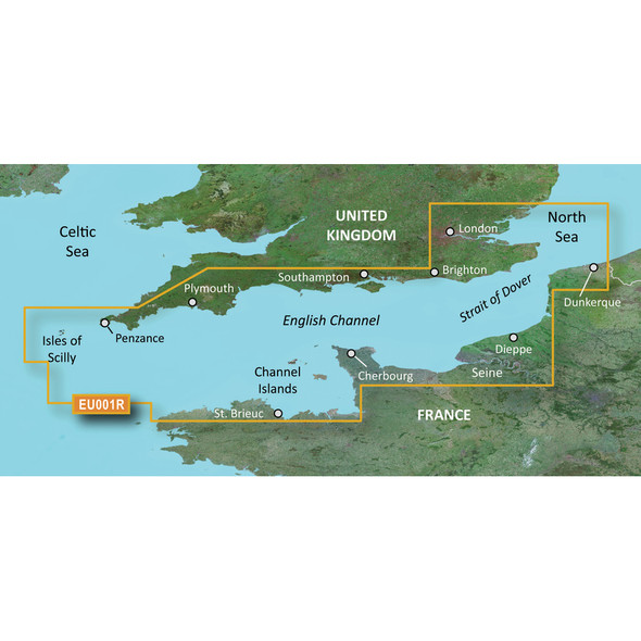 Garmin BlueChart g3 Vision HD - VEU001R - English Channel - microSD/SD