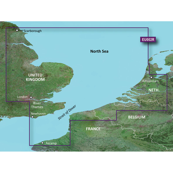 Garmin BlueChart g3 Vision HD - VEU002R - Dover to Amsterdam /SD