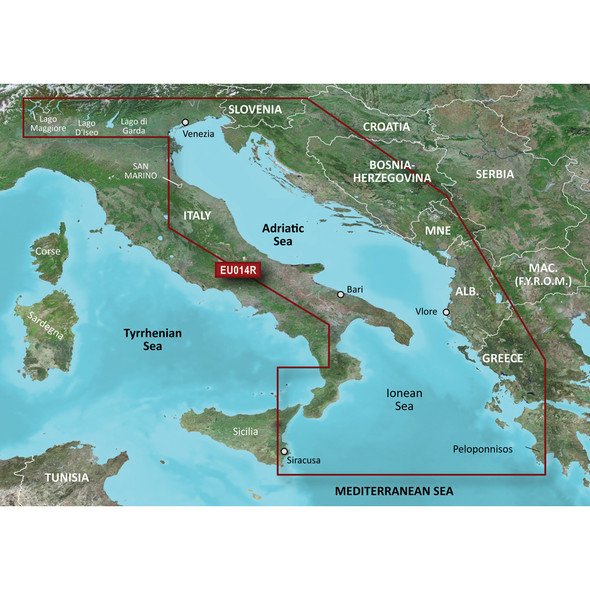 Garmin BlueChart g3 Vision HD - VEU014R - Italy, Adriatic Sea - microSD/SD