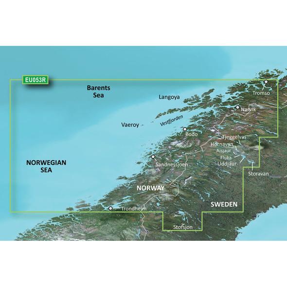Garmin BlueChart g3 Vision HD - VEU053R - Trondheim - Tromsø - microSD/SD