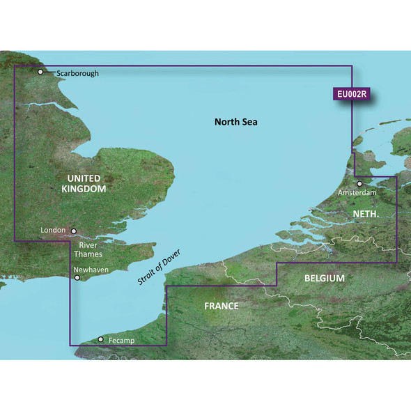 Garmin BlueChart g3 HD - HXEU002R - Dover to Amsterdam /SD