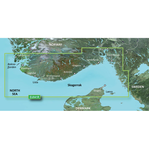 Garmin BlueChart g3 HD - HXEU041R - Oslo - Skagerak - Haugesund - microSD/SD