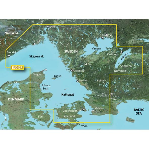 Garmin BlueChart g3 HD - HXEU042R - Oslo to Trelleborg - microSD/SD