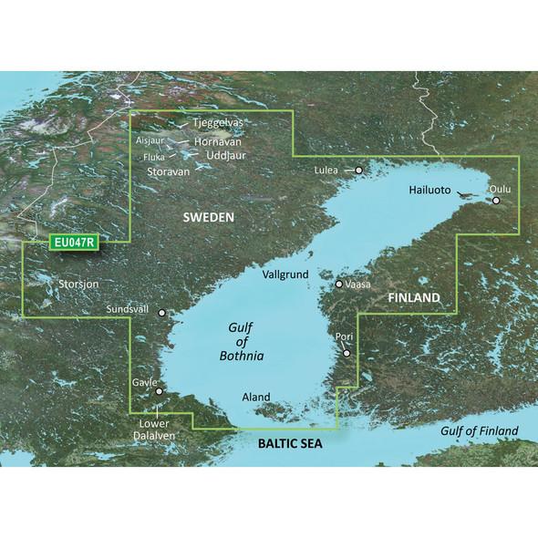 Garmin BlueChart g3 HD - HXEU047R - Gulf of Bothnia - Kalix to Grisslehamn - microSD/SD
