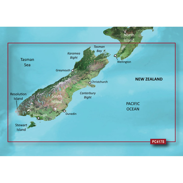 Garmin BlueChart g2 HD - HXPC417S - New Zealand South - microSD/SD