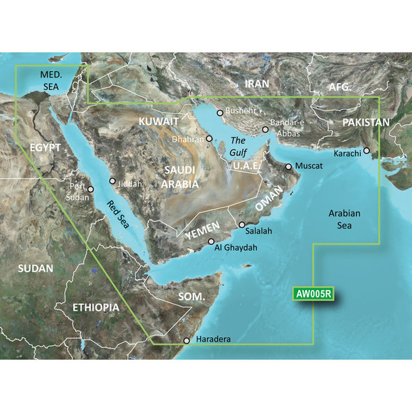 Garmin BlueChart g2 HD - HAW005R - The Gulf /SD