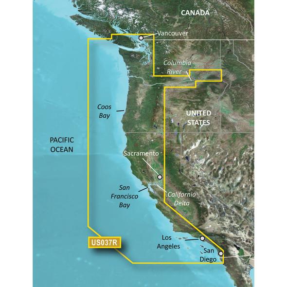 Garmin Bluechart g3 Vision HD - VUS037R - Vancouver - San Diego - microSD/SD