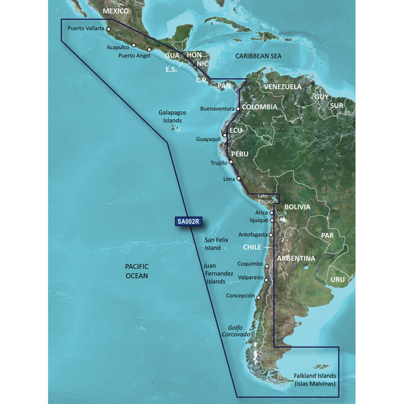 Garmin BlueChart g2 HD - HXSA002R - South America West Coast - microSD/SD