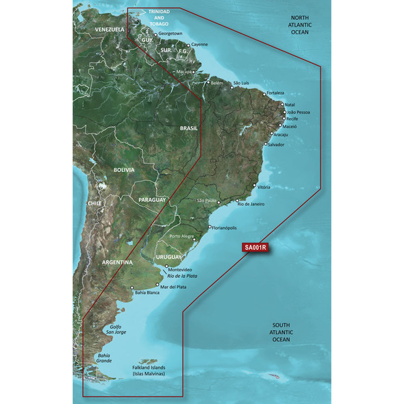 Garmin BlueChart g2 Vision HD - VSA001R - South America East Coast - microSD/SD