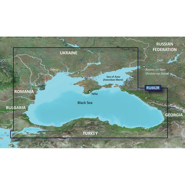Garmin BlueChart g3 HD - HXRU002R - Black Sea /SD