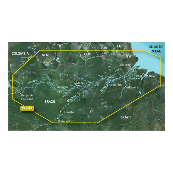 Garmin BlueChart g2 HD - HXSA009R - Amazon River - microSD/SD