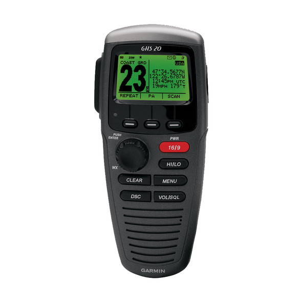 Garmin GHS 20 Wireless VHF Handset - Black
