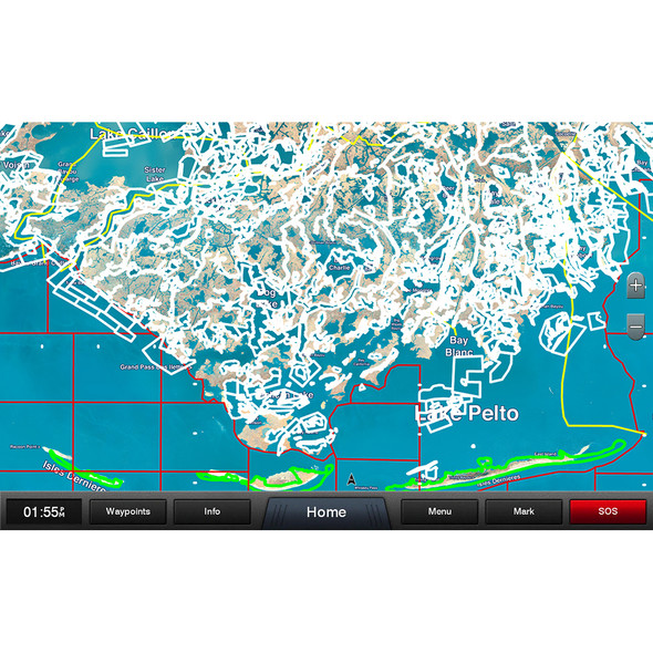 Garmin Standard Mapping - Louisiana Central Professional microSD/SD Card