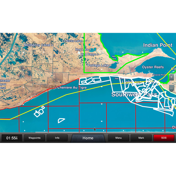 Garmin Standard Mapping - Louisiana West Professional microSD/SD Card
