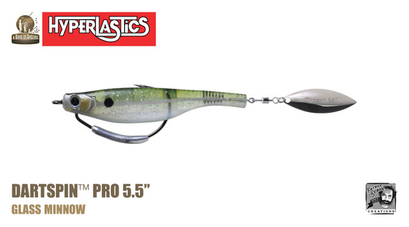 "A Band of Anglers HYPERLASTICS™ DARTSPIN™ PRO 5.5"" Glass Minnow - silver"