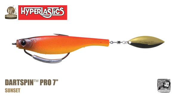 "A Band of Anglers HYPERLASTICS™ DARTSPIN™ PRO 7"" Sunset - gold"