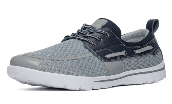 Del Marina by Skuze Shoes - Grey & Blue - Stretch Fit