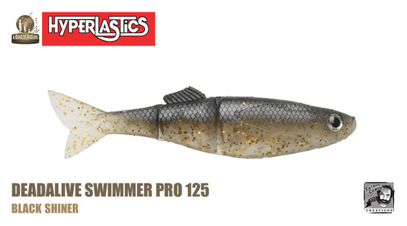 "A Band of Anglers HYPERLASTICS™ DEADALIVE™ Pro5"" - Swimmer Pro 123, Black Shiner"