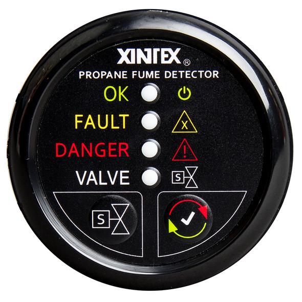Xintex Propane Fume Detector w/Automatic Shut-Off & Plastic Sensor - No Solenoid Valve - Black Bezel Display