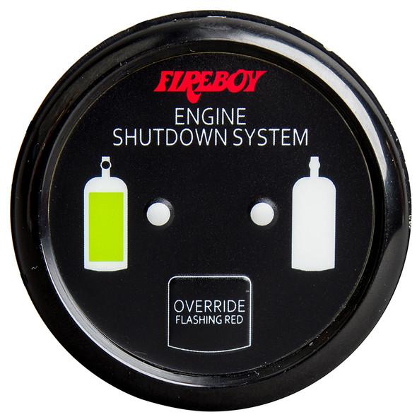 Xintex Deluxe Helm Display w/Gauge Body, LED & Color Graphics f/Engine Shutdown System - Black Bezel Display