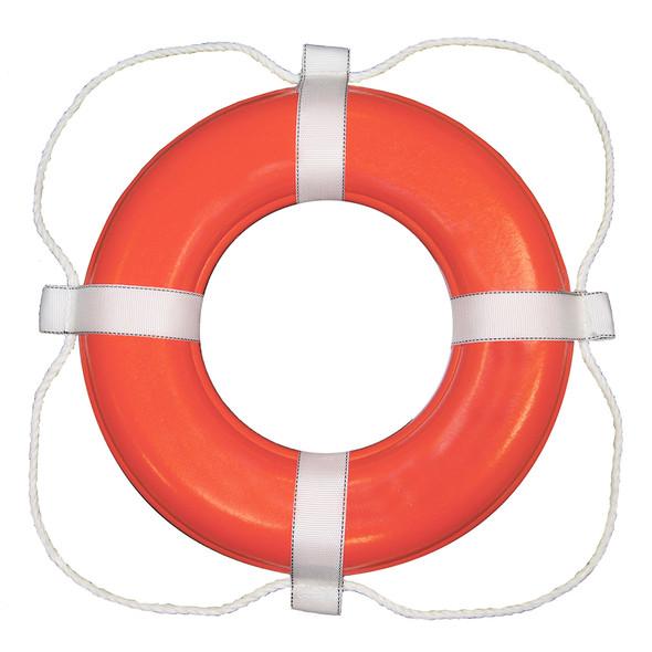 "Taylor Made Foam Ring Buoy - 24"" - Orange w/White Rope"