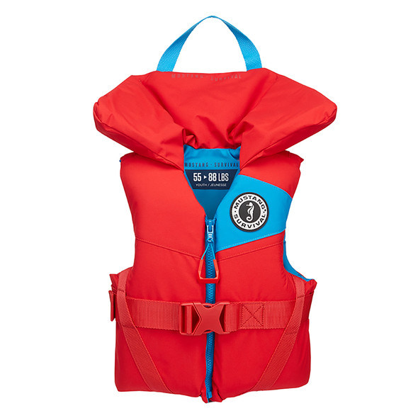 Mustang Lil' Legends 100 Youth Foam PFD - 55-88lbs - Imperial Red
